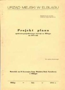 Projekt planu społeczno-gospodarczego rozwoju miasta Elbląga na 1978 rok – biuletyn