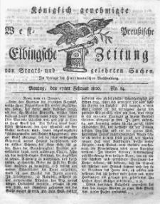 Elbingsche Zeitung, No. 14 Montag, 17 Februar 1800
