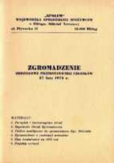 """Oddziałowe Zgromadzenie Przedstawicieli Członków """"Społem"""" - broszura"""
