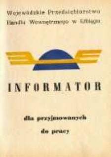 Informator Dla Przyjmowanych Do Pracy 1978 - broszura