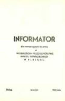 Informator Dla Nowoprzyjętych Do Pracy 1980 - broszura