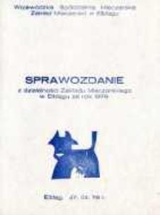 Sprawozdanie z Działalności Zakładu Mleczarskiego w Elblągu za 1979 r. - broszura