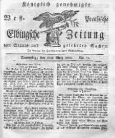 Elbingsche Zeitung, No. 19 Donnerstag, 6 März 1800