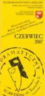 Repertuar Teatru Dramatycznego w Elblągu: czerwiec 2007 r. - folder