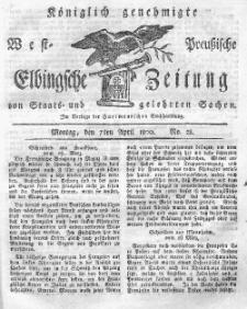 Elbingsche Zeitung, No. 28 Montag, 7 April 1800