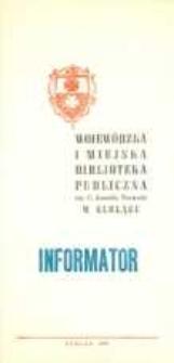 Wojewódzka Biblioteka Publiczna w Elblągu : informator