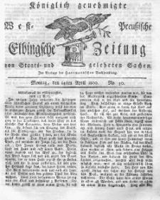 Elbingsche Zeitung, No. 30 Montag, 14 April 1800