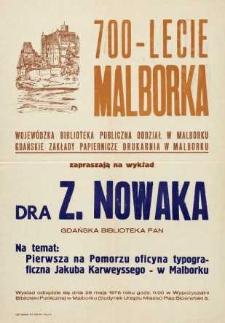 Wykład Zbigniewa Nowaka - afisz