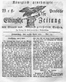Elbingsche Zeitung, No. 33 Donnerstag, 24 April 1800