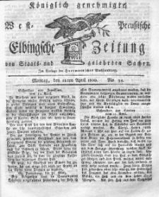 Elbingsche Zeitung, No. 34 Montag, 28 April 1800