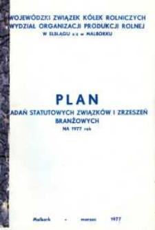 Plan zadań statutowych związków i zrzeszeń branżowych na 1977 rok