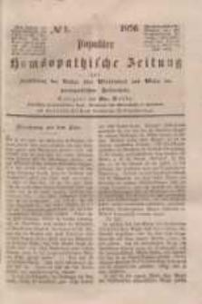 Populäre homöopathische Zeitung, 1856 (nr 1)