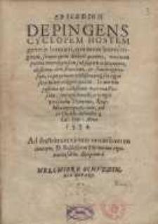 Epicedion depingens cyclopem hostem generis humani, qui more leonis rugientis, semper quem devoret quaerens, maximam partem mortalium suis sub sceptris militantium