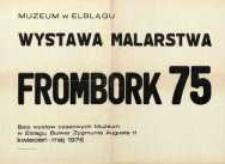 Wystawa malarstwa: Frombork 75 – afisz