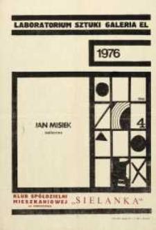Jan Misiek : wystawa malarstwa – afisz