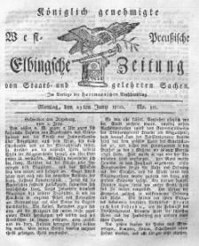 Elbingsche Zeitung, No. 50 Montag, 23 Juni 1800