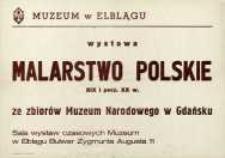 Malarstwo polskie XIX i pocz. XX w. – afisz