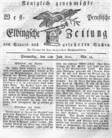 Elbingsche Zeitung, No. 53 Donnerstag, 3 Juli 1800