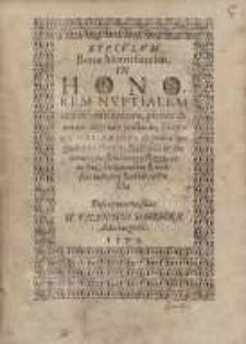 Speculum bonae matrisfamilias. In honorem nuptialem ...Casparis Schachmanni ...