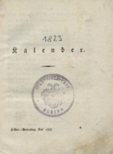 Historisch-genealogischer Kalender, 1823