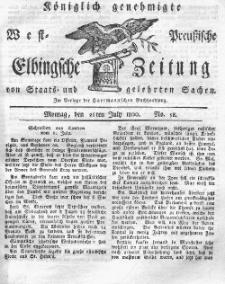 Elbingsche Zeitung, No. 58 Montag, 21 Juli 1800