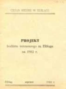 Projekt budżetu terenowego miasta Elbląga na 1982 r. – broszura