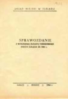 Sprawozdanie z wykonania budżetu terenowego miasta Elbląga za 1981 r. – broszura