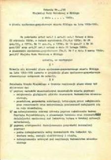Uchwała Miejskiej Rady Narodowej w Elblągu w sprawie planu społeczno-gospodarczego miasta Elbląga na lata 1983–1985 - druk
