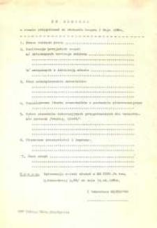Informacja o Stanie Przygotowań do Obchodów Święta 1 Maja 1980 r. w Elblągu - druk