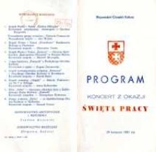 Koncert z Okazji Święta Pracy w 1981 r. - program muzyczny