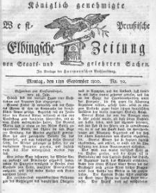 Elbingsche Zeitung, No. 70 Montag, 1 September 1800