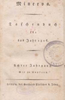 Minerva. Taschenbuch für das Jahr, 1816