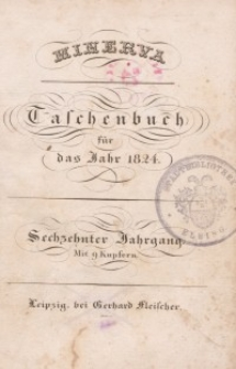 Minerva. Taschenbuch für das Jahr, 1824