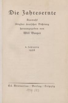 Die Jahresernte, 1928