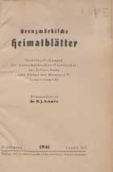 Grenzmärkische Heimatblätter, 1941