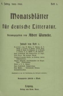 Monatsblätter für deutsche Litteratur, Jg. 5, H. 3.