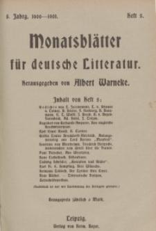 Monatsblätter für deutsche Litteratur, Jg. 5, H. 5.