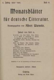 Monatsblätter für deutsche Litteratur, Jg. 5, H. 11.