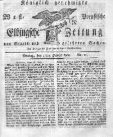 Elbingsche Zeitung, No. 86 Montag, 27 Oktober 1800
