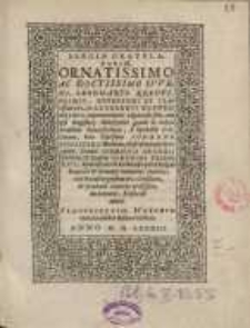 Elegiae gratulatoriae ornatissimo ac doctissimo iuveni Leonharto Krentz Heimio...