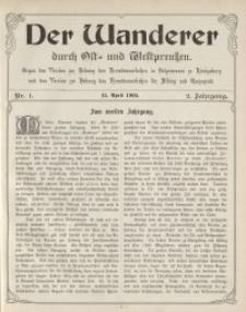Der Wanderer durch Ost- und Westpreußen, Jg.2, 1905.