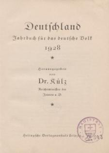 Deutschland. Jahrbuch für das deutsche Volk, 1928