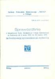 """Sprawozdanie z Działalności Rady Zakładowej i Rady Robotniczej w Zakładach Przemysłu Odzieżowego """"Truso"""" - biuletyn"""