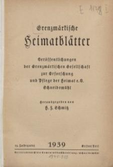 Grenzmärkische Heimatblätter, 1939