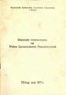 Materiały Informacyjne na Walne Zgromadzenie Przedstawicieli Wojewódzkiej Spółdzielni Ogrodniczo-Pszczelarskiej w Elblągu