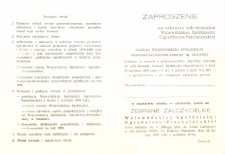 Zebranie Założycielskie Wojewódzkiej Spółdzielni Ogrodniczo-Pszczelarskiej w Elblągu - zaproszenie