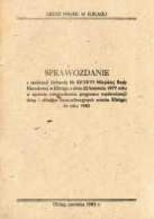 Sprawozdanie z Realizacji Uchwały Miejskiej Rady Narodowej Nr XV/73/77... - druk