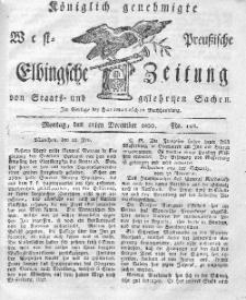 Elbingsche Zeitung, No. 102 Montag, 22 Dezember 1800