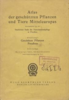Atlas der geschützten Pflanzen und Tiere Mitteleuropas