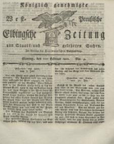 Elbingsche Zeitung, No. 9 Montag, 1 Februar 1802